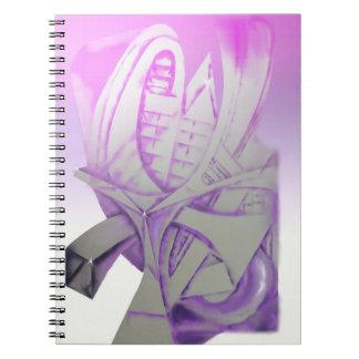 Lilor & grått anteckningsbok