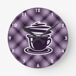 Lilor hoat kaffe rund klocka