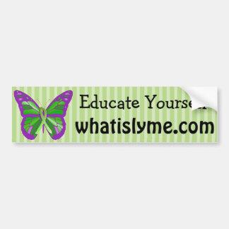 Lilor och fjärilsLyme för limefrukt grön sjukdom Bildekal
