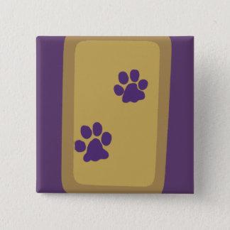 Lilor och guld standard kanpp fyrkantig 5.1 cm