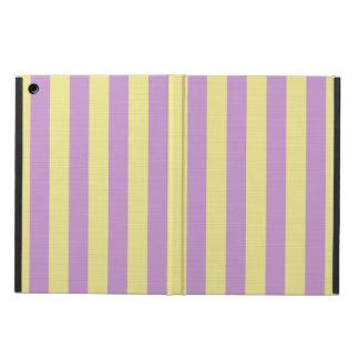 Lilor och gult görat randig mönster iPad air skal