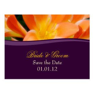 Lilor och orange spara dateravykortet vykort
