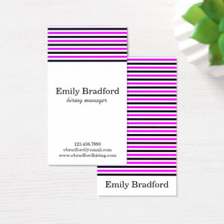 Lilor och randiga visitkortar för svart visitkort