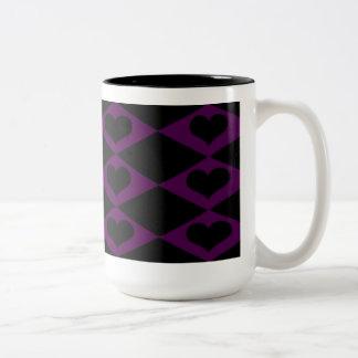 lilor och svartmugg Två-Tonad mugg