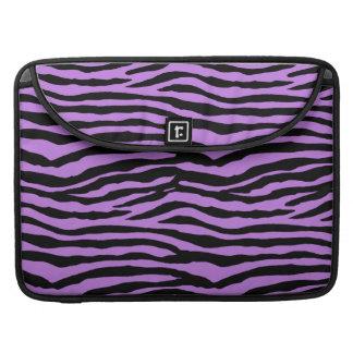 Lilor och zebra ränder sleeve för MacBooks