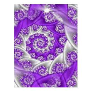 lilor virvlar runt snöre vykort