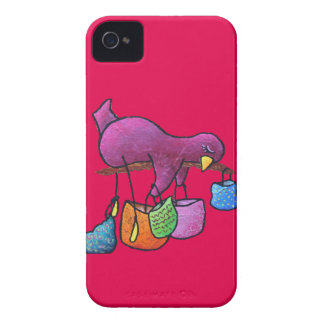 "LimbBirds ""shoppar kassalåda U tappar"" Iphone 4 iPhone 4 Fodraler"