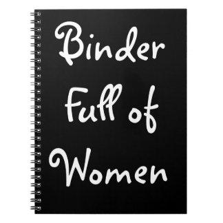 Limbindningfullt av kvinnaanteckningsboken anteckningsbok med spiral
