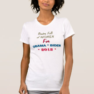 Limbindningfullt av kvinnor för OBAMA 2012 roliga T Shirts