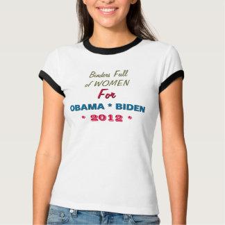 Limbindningfullt av kvinnor för OBAMA BIDEN Ringer T Shirts