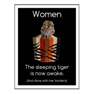 Limbindningfullt av kvinnor som sovar tigergåvor vykort