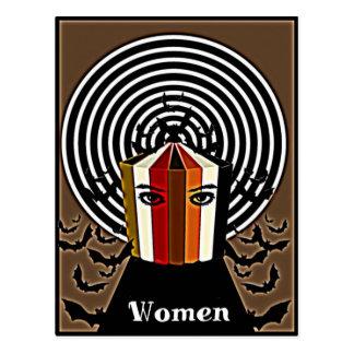 Limbindningfullt av läskiga kvinnagåvor för vykort