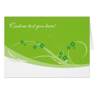 Limefrukt blommar kortet hälsningskort