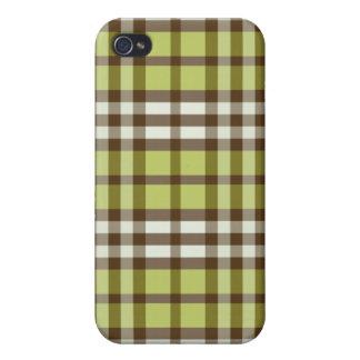 Limefrukt-/chokladpläd Pern iPhone 4 Hud