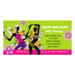 Limefrukt för dans för kort för nyårsaftonpartyfot fotokort