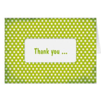 Limefrukt gröna Polkadot Hälsningskort