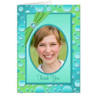 Limefrukt- och Aquapolkaen pricker tackkortet med Hälsningskort
