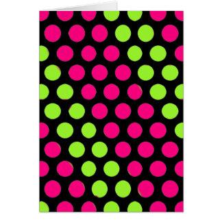 Limefrukt- och rosapolka dots hälsningskort