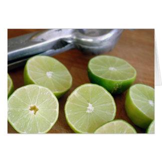 Limefrukt Time Hälsningskort