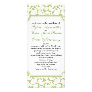 limefruktbröllopsprogram ställkort