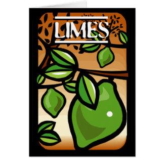 Limefrukter Hälsningskort