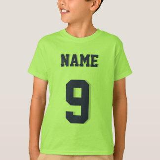 Limefruktgrönt & Jersey för sportar för marinungar Tshirts