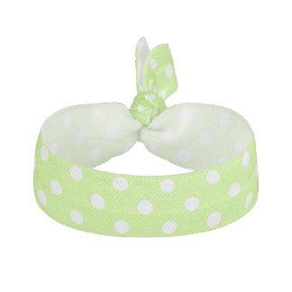 Limefruktgrönt med tien för vitpolka dotshår hårband