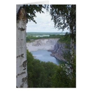 Limestonevillebrådet landskap hälsningskort