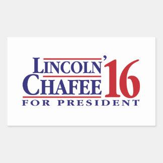 Lincoln Chafee för president Rektangulärt Klistermärke