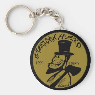 Lincoln encentmynt från helvete rund nyckelring