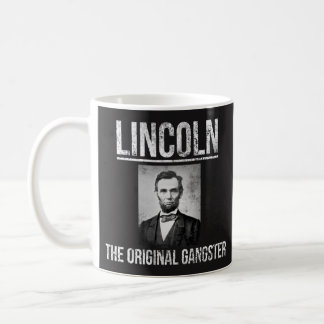 Lincoln kaffemugg - den original- gangster vit mugg