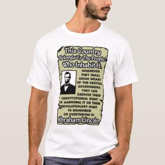 Lincoln: Omstörta regeringen! Tshirts
