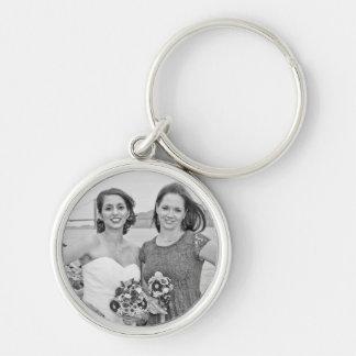 Linda & Isaacs bröllopkeychain Rund Silverfärgad Nyckelring