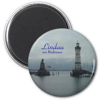 Lindau Lindau, förmiddag Bodensee Magnet Rund 5.7 Cm