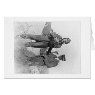Lindbergh med rubba ur dess läge knuffar hälsningskort