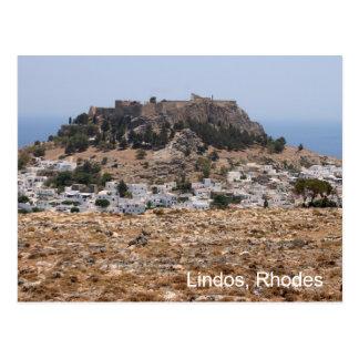 Lindos Rhodes Vykort