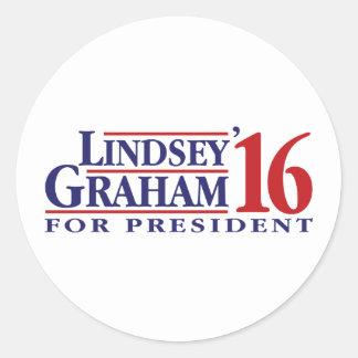 Lindsey Graham för president Runt Klistermärke