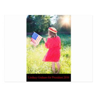 Lindsey Graham för presidenten 2016 Vykort