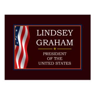 Lindsey Graham för presidenten V3 Vykort