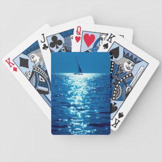 LineA indigoblå segling Spelkort