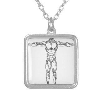 linear-1525080 silverpläterat halsband