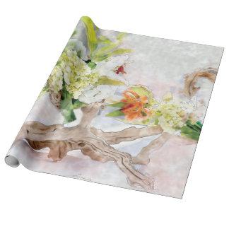 Linne för vanlig hortensiaBella vattenfärg som Presentpapper