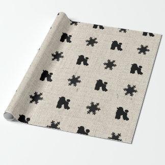 LinnepudelSnowflake som slår in papper Presentpapper