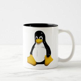 Linux /dev/mug Två-Tonad mugg