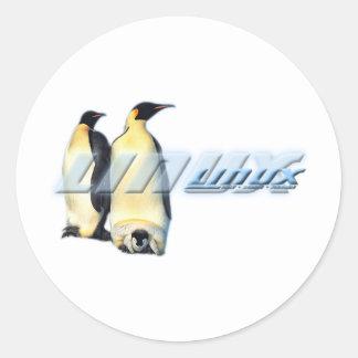 Linuxpingvin Runt Klistermärke
