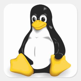 LinuxTuxprodukter Fyrkantigt Klistermärke