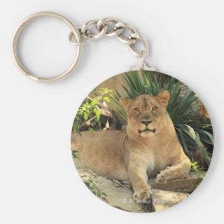 Lioness Keychain Rund Nyckelring