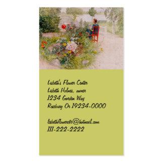 Lisbeth i blomsterträdgården visitkort mall