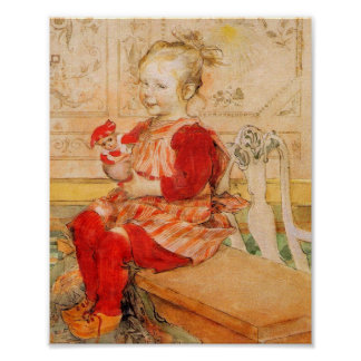 Lisbeth i en röd jumper affischer