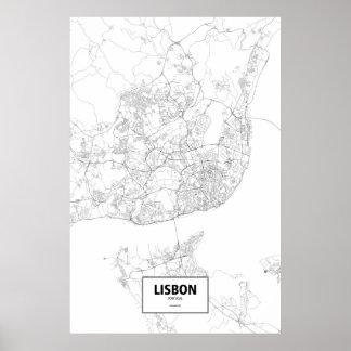 Lisbon Portugal (svarten på vit) Poster